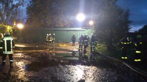 Ausleuchten bei Feuer in Hodorf